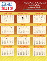 2012 Calendar Fun