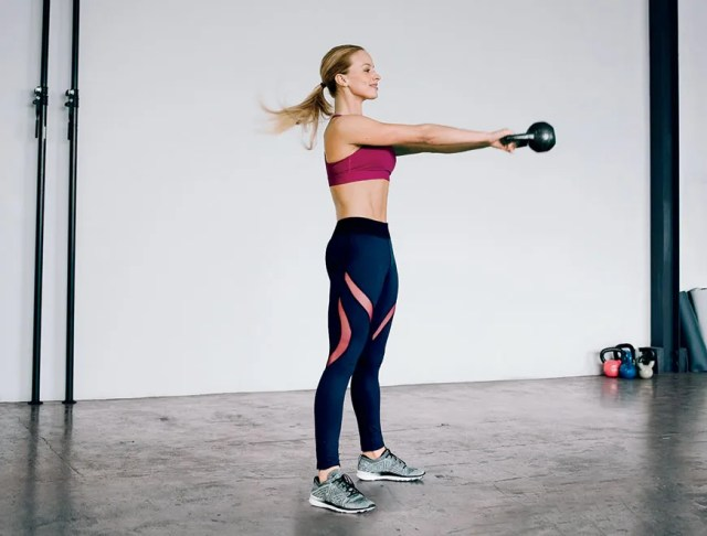 Image may contain Footwear Shoe Clothing Apparel Human Person Standing Female Woman Exercise Sport and Sports