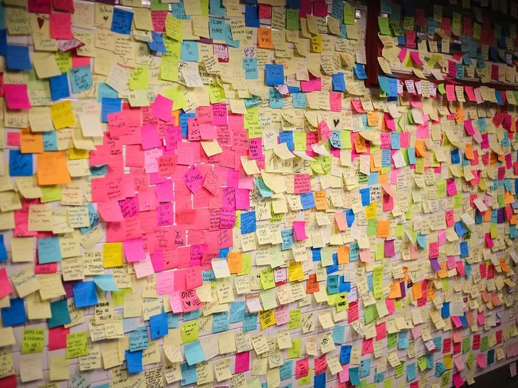 sticky note therapy is