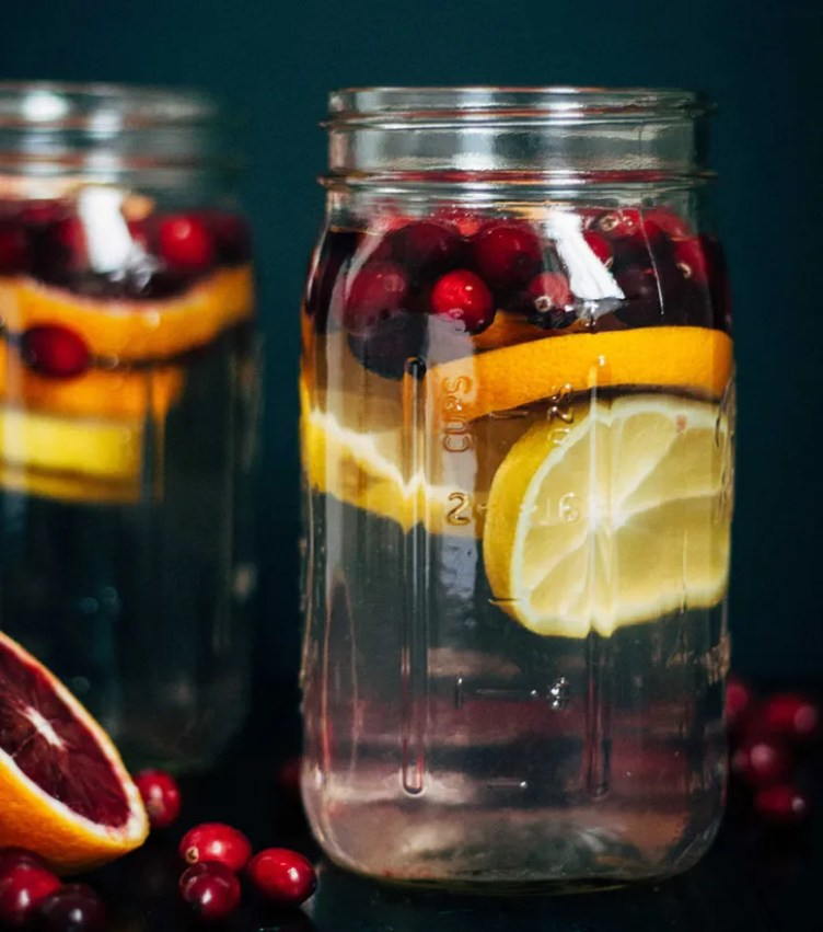 Cranberry Orange Water from Well and Full