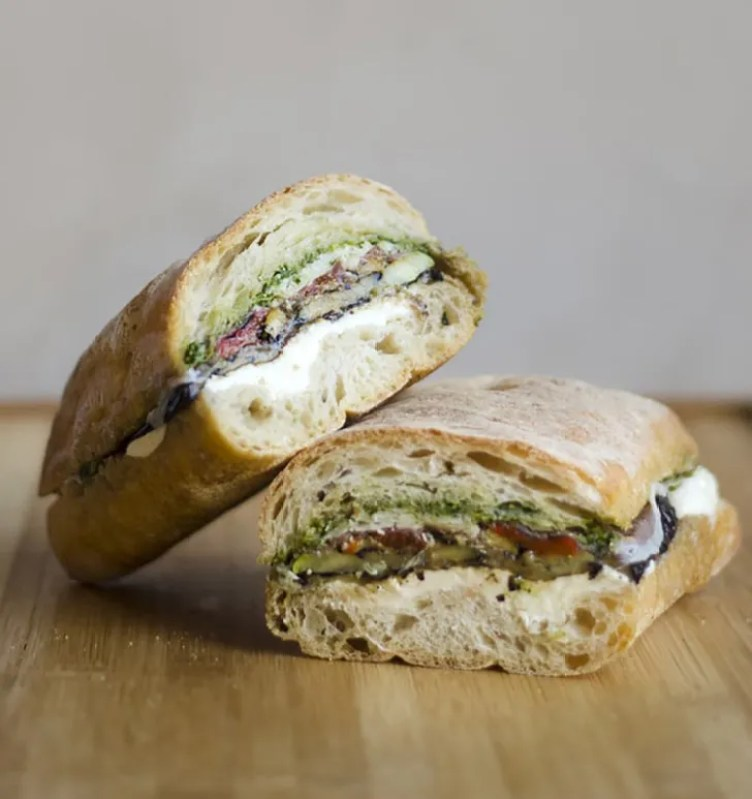 Pressed Eggplant Sandwiches from Live Eat Learn