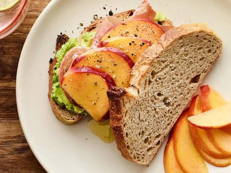 Peach, Prosciutto, and Avocado Sandwich from SELF