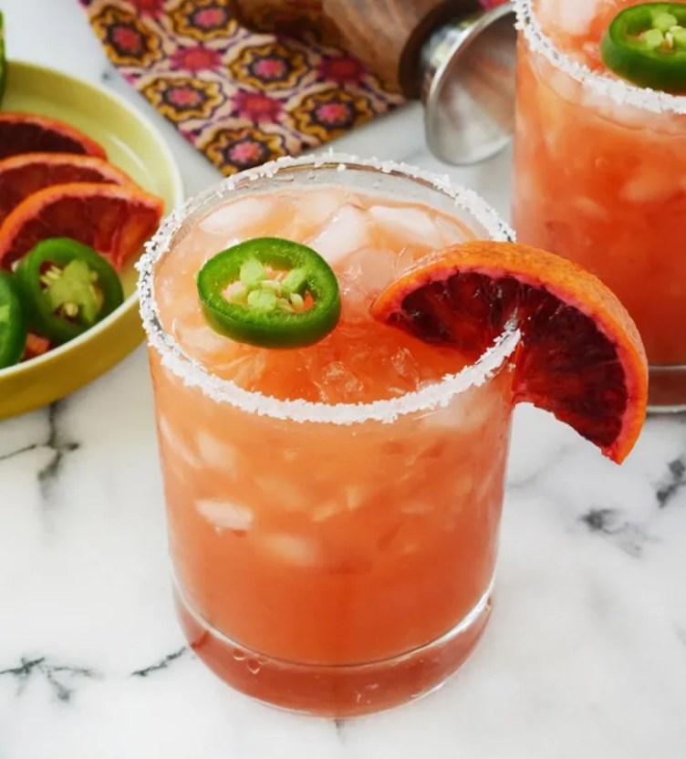 Blood Orange Jalapeño Mock Margarita from Oleander and Palm