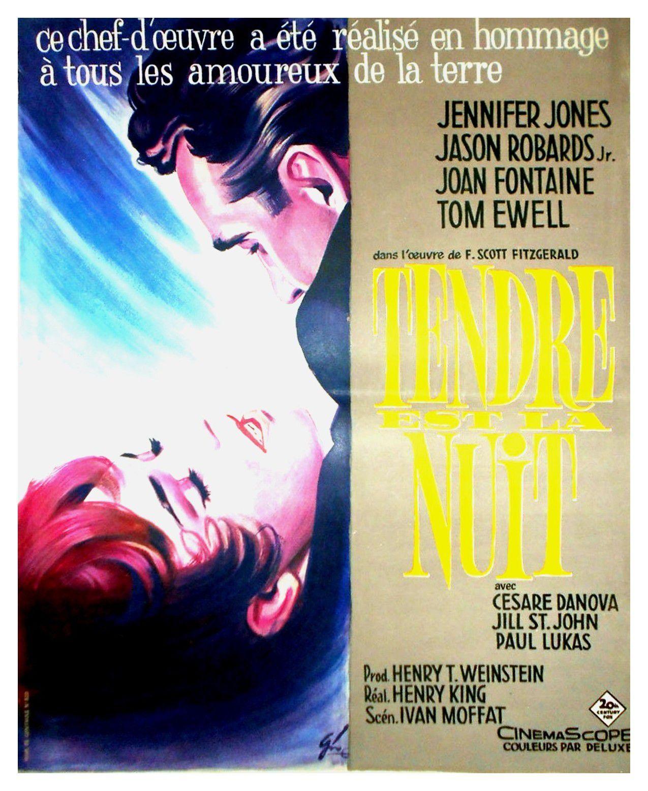 Tendre Est La Nuit Film : tendre, Affiches,, Posters, Images, Tendre, (1962)
