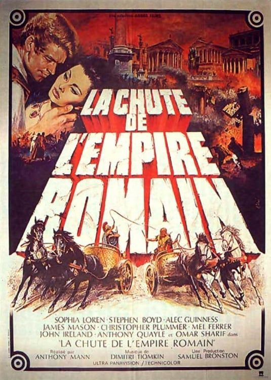 Film La Chute De L'empire Romain : chute, l'empire, romain, Chute, L'empire, Romain, (1964), SensCritique