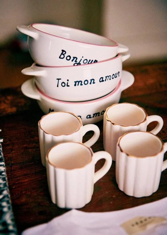 set de 4 tasses espresso ecru ceramique sezane