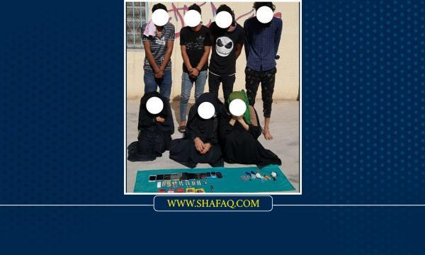 حوالي نصفهم من النساء .. تم الإطاحة بعصابة لترويج المخدرات في ميسان