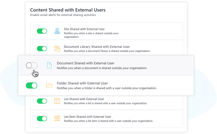 Monitor external sharing with Sharegate