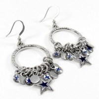 Dallas Cowboys Hoop Earrings with Charms | Jewelry ...