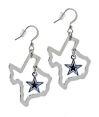 Dallas Cowboys State of Texas Floating Star Earrings ...