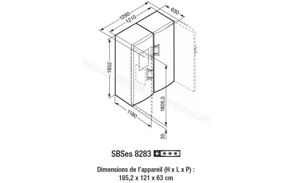 LIEBHERR SBSes 8283 (SBSes8283), fiche technique, prix et avis