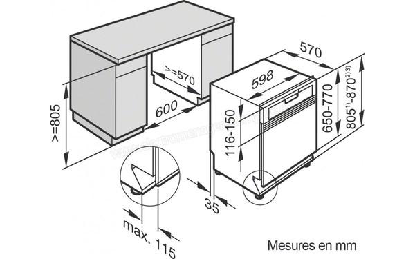 MIELE G 4203 i Inox (G4203i Inox), fiche technique, prix