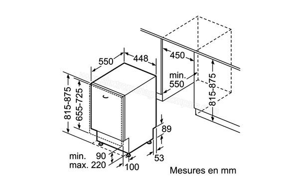 NEFF S58E50X2EU (S 58 E 50 X 2 EU), fiche technique, prix