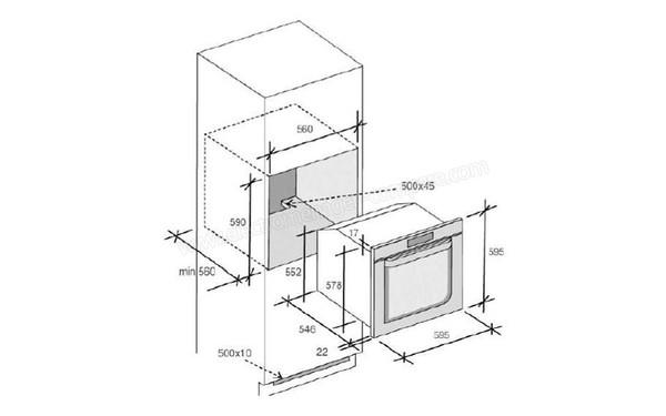 ROSIERES RFS 5500 PNX (RFS5500PNX), fiche technique, prix