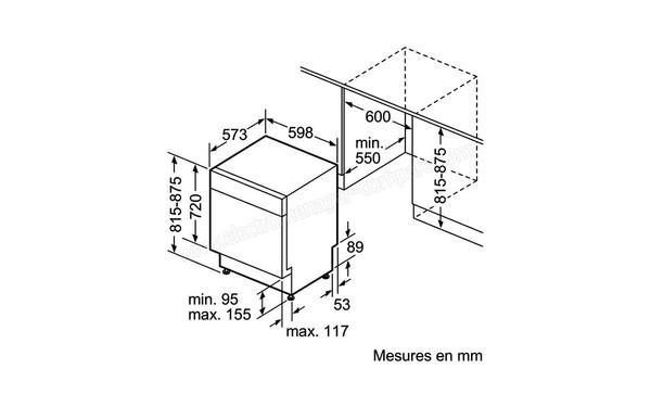 SIEMENS SN48M550EU (SN 48 M 550 EU), fiche technique, prix