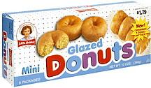 Little Debbie Mini Glazed Donuts 60 ea Nutrition