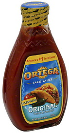 Ortega Taco Sauce Original Medium Thick Smooth 160 oz