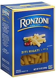 Ronzoni Ziti Rigati No 1 160 oz Nutrition Information
