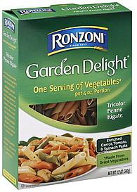 Ronzoni Penne Rigati Tricolor 120 oz Nutrition