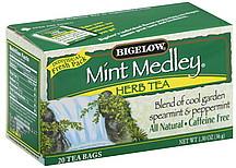Bigelow Tea Herb Mint Medley Bags 200 ea Nutrition