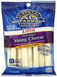 Crystal Farms String Cheese Wisconsin Light 120 ea