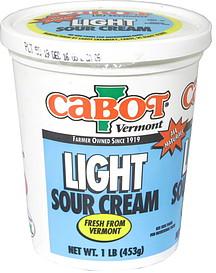 Cabot Vermont Light Sour Cream 10 lb Nutrition