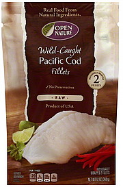 Open Nature Cod Pacific WildCaught Fillets 20 ea