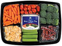 Eat Smart Gourmet Veggie Tray Beef Cheese WDip 380 Oz
