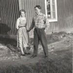 Melker Hedström 1920-2000, Rödingsträsk och Djupträsk med hustrun Tyra Johansson från Björkberg 1925-1984.