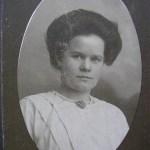 Emma Wärja f Rutström 1886-1944, gift med Gustaf Wärja 1889-1973 från Holmträsk.