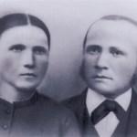 """Urfadern till Larssons, Lars Mattsson (Teilus) 1840-1916 """"Nygårds-Lasse"""" och hustru Anna Britta Andersdotter Flodin 1846-1916 från Nedre Tväråsel."""