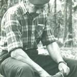 Birger vid kaffeelden, Flarkå i juni 1971. Foto: Arnold Lagerfjärd