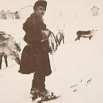 Lars Teilus med sina renar.