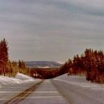 Övre Haradsvägen före Bodträskfors med siktet mot Harads.