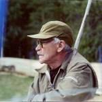 Georg Mikaelsson i kalvmärkartagen. Foto: L Mikaelsson