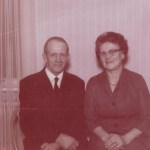 Petter Lundmarks dotter Ellen med maken Alvar Bergkvist, Stockfors.