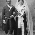 Arvidsjaursame från Serrejaur och en av de renskötare som anställdes som rendräng i Rödingsträsk; Timoteus Andersson 1871-1951 och Maria Katarina Jonsdotter 1873-1938, här vid sin vigsel den 8 maj 1900.