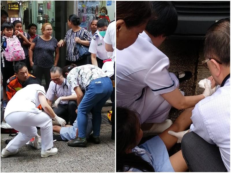油麻地7歲女童遭貨車撞 醫護跑出診所施救