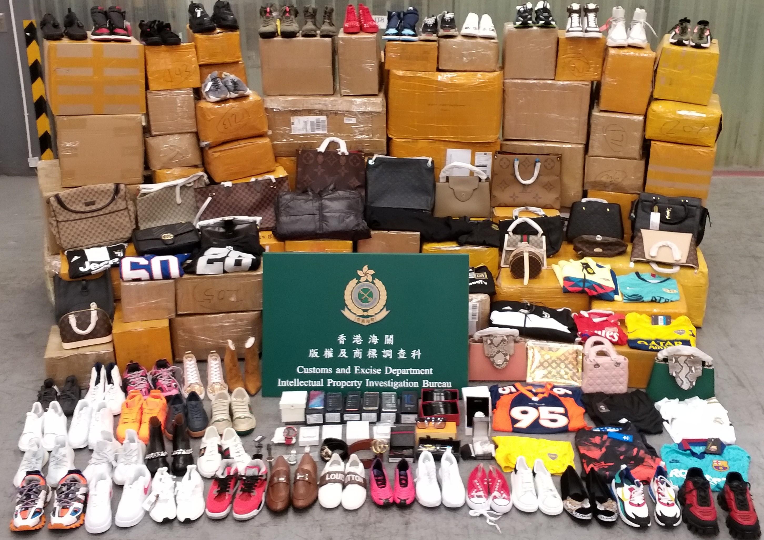 海關檢1.3萬件輸往美國冒牌貨 市值約150萬元