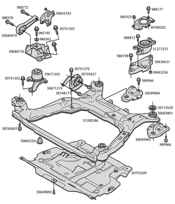 S40 Engine Mounts Diagram, S40, Free Engine Image For User