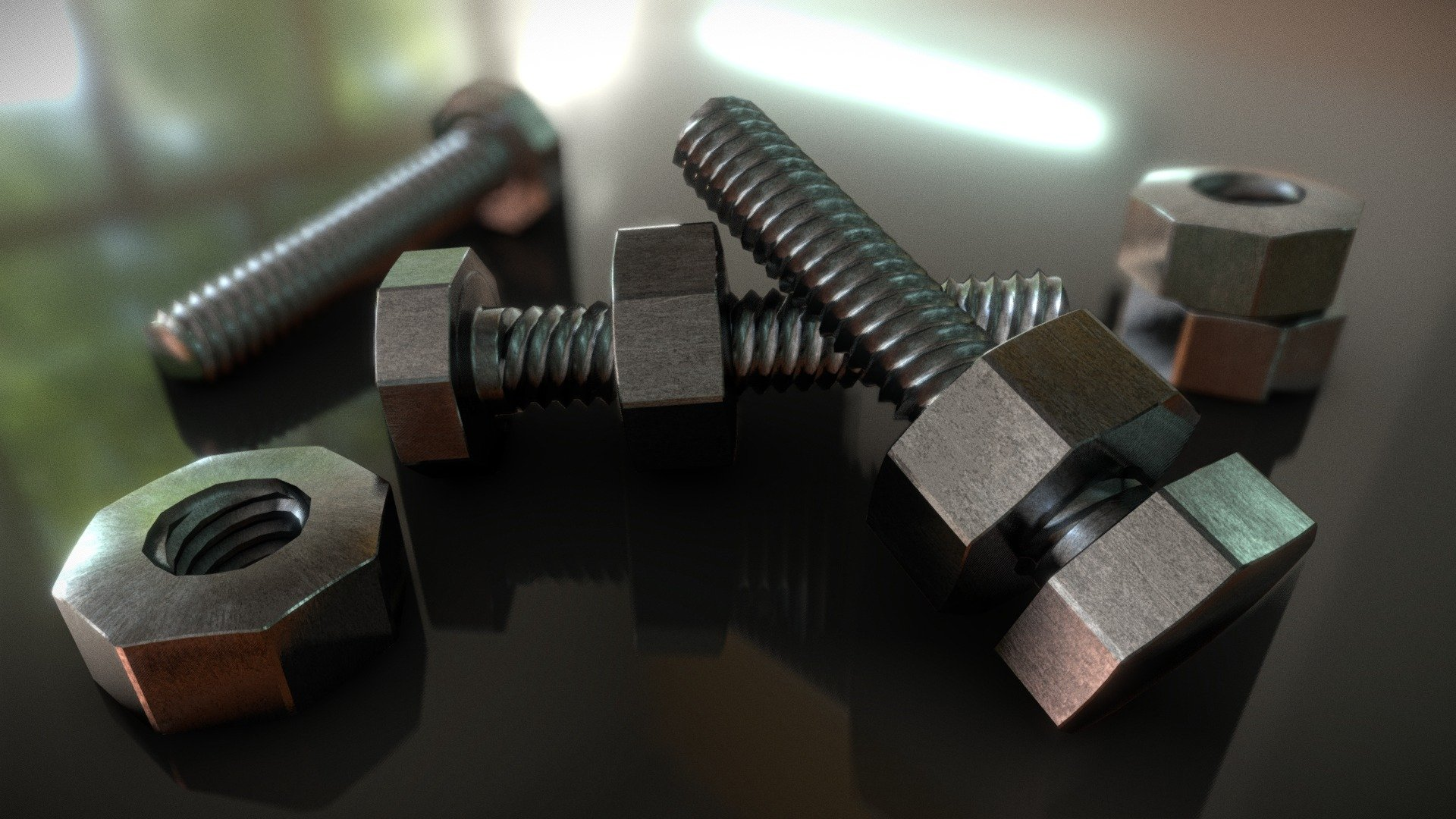 Nuts Amp Bolts Photoreal Rendering Test