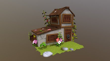 Casa Cartoon 3D model by Pxndres3D @Pxndres3D [99932a6] Sketchfab