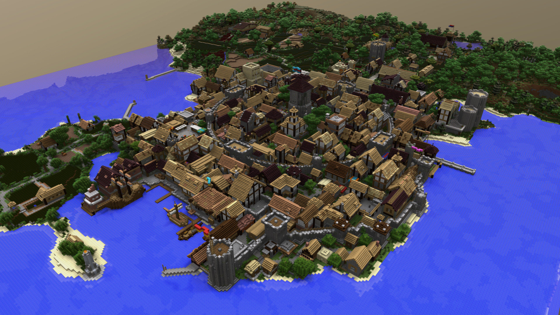 Medieval Port City Download Free 3d Model By Theavatar
