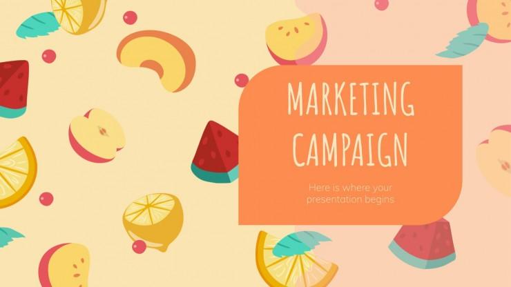 Campagne marketing avec des fruits : Modèles de présentation