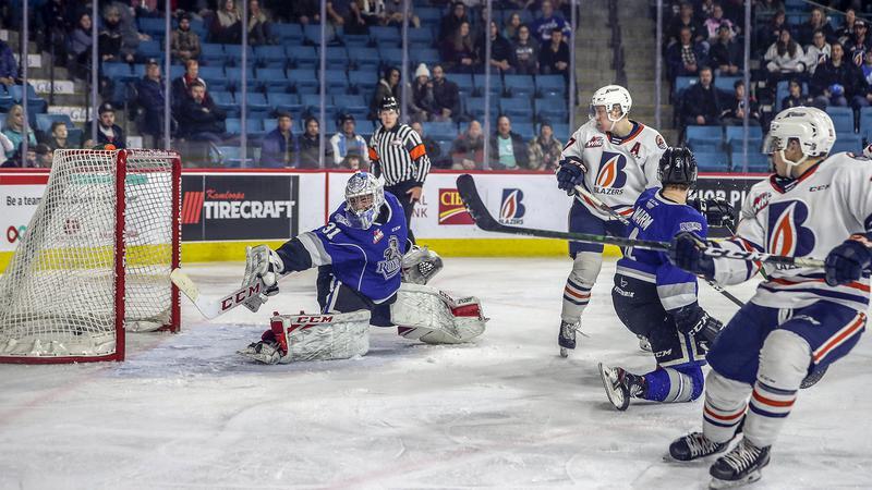 Talbot Makes 44 Saves Calgary Flames Rout Anaheim Ducks 6