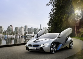 The BMW i8 concept. (Photo courtesy of BMW.)