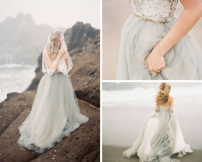 BRIDAL TREND: GREY WEDDING GOWNS