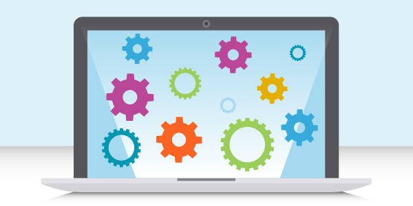 Email Tools in an API World Laptop w Gears