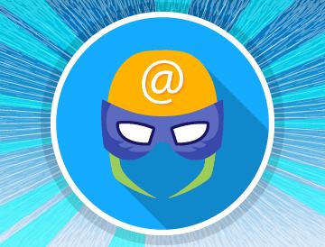 New to email basics superhero mask