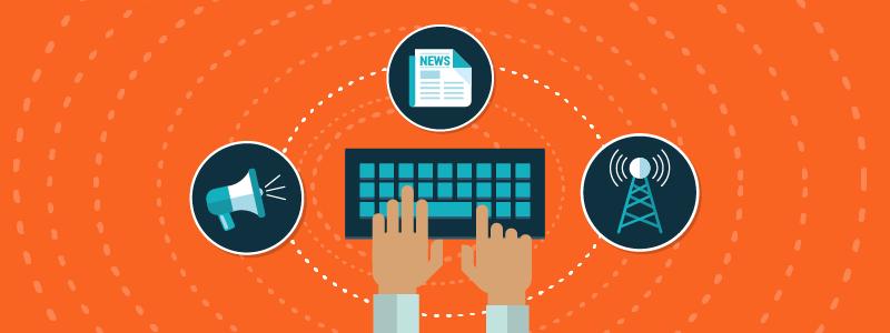 Orange Background Keyboard Pitch Startup TechJournalists